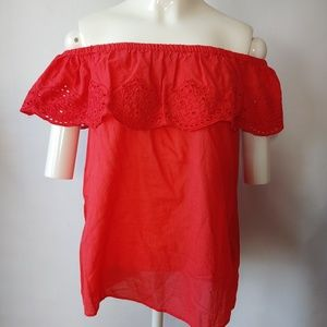 H&M Size 2 Strapless Ruffle Top